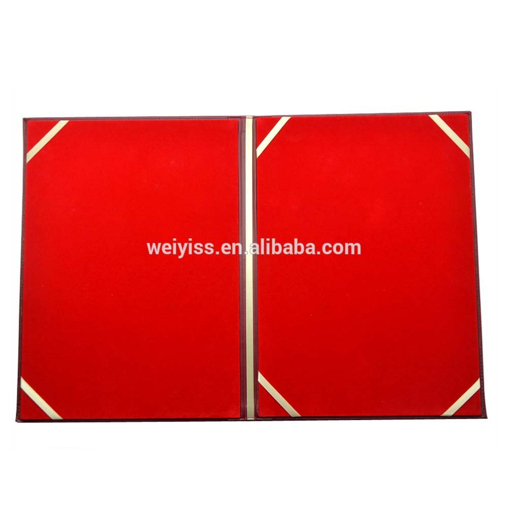 Customized Wholesale Popular Certificate Folder With Velvet Buy