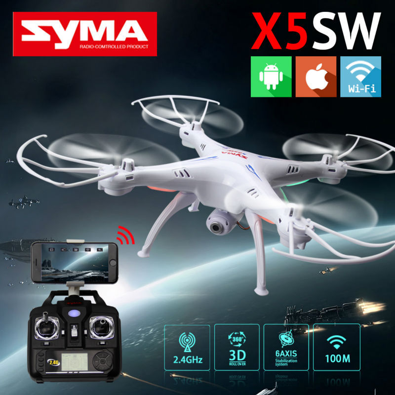 SYMA X5SW WIFI RC Drone Fpv Quadcopter With HD Camera 2.4G 6-Axis Real Time RC