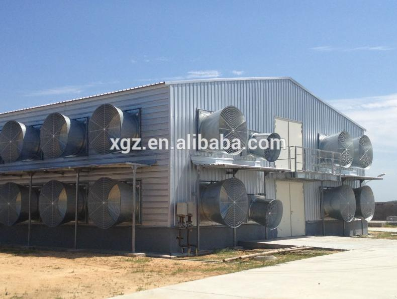 Auto-Control Machine Equipments Steel Structure Poultry Farming House Design