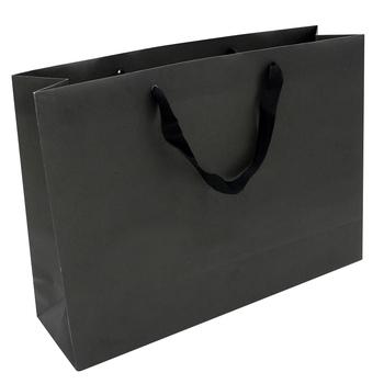 9bc366f02 Venda quente Saco de Compras Online Em Massa de Compra De Papel Preto Com  Alças