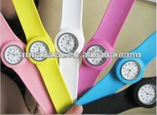 candy color adult silicone slap wrap watch ( logo available on dial)