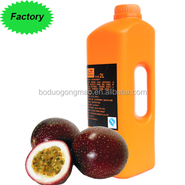 Hot selling Fruit Drink Concentrate Juice Syrup Concentrated Passion fruit Juice
