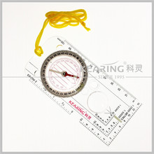 Kearing Plastic Compass for Military Map Guiding / Great Pocket Tool for Soldier Direction Guiding # KMC-1