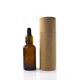 Wholesale e liquid 5ml 10ml 15ml 20ml 30ml 50ml 100ml clear amber essential oil glass dropper bottle with paper tube