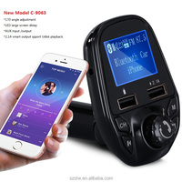 Wireless Blue-tooth Car FM Transmitter Handsfree car bass songs mp3 Player hindi songs download