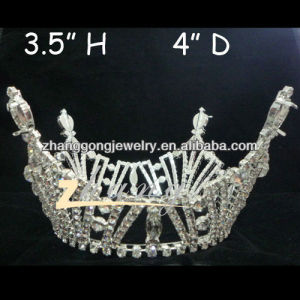 Fully round Rhinestone pageant Kings Crown