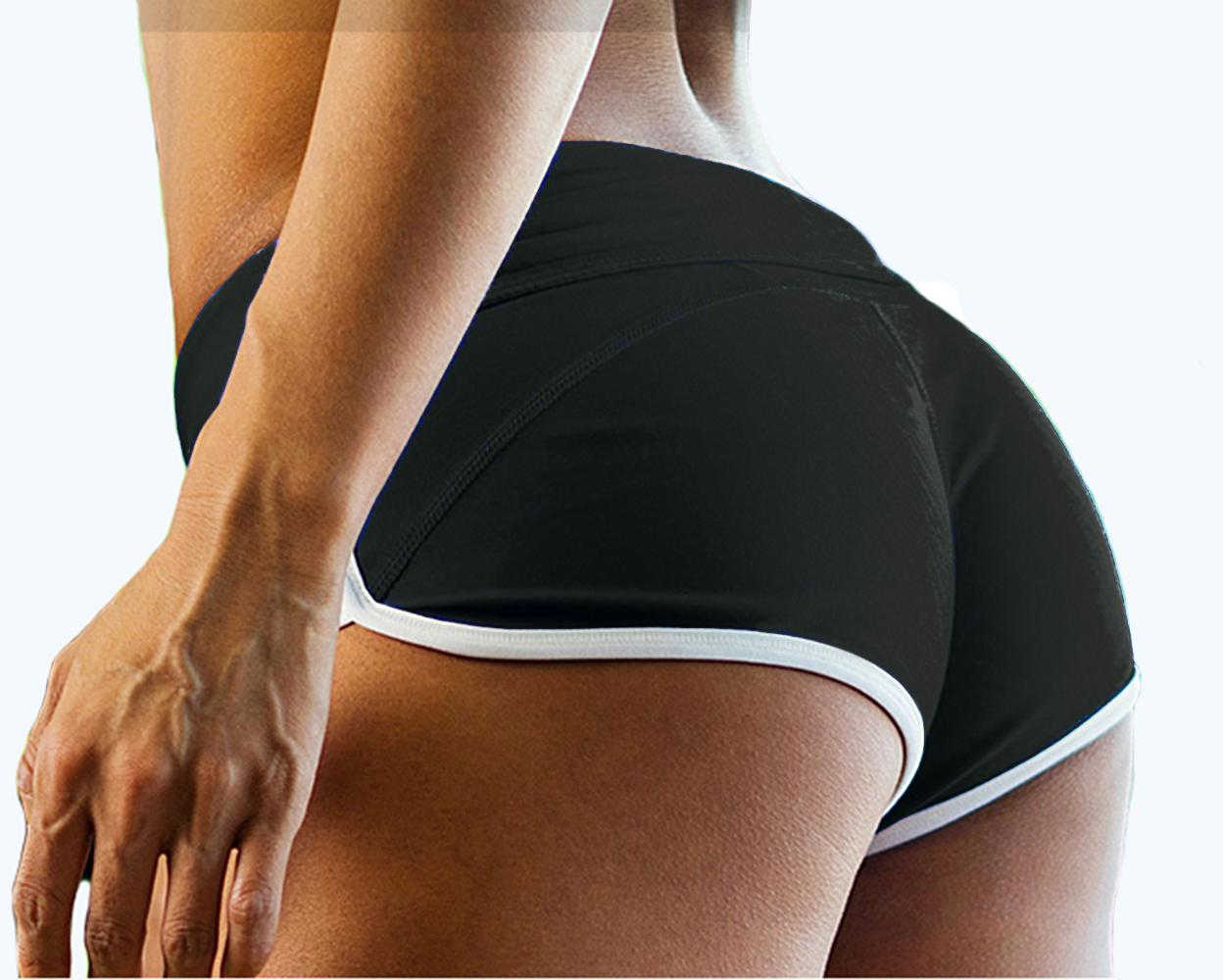 Sexy women's skinny yoga boy shorts gym sports pants fitness trousers swimwear