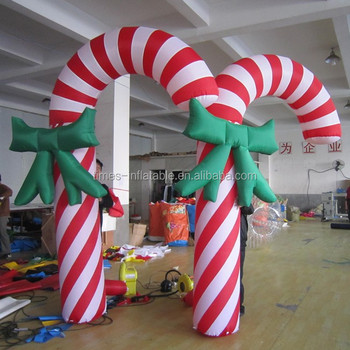 high quality christmas inflatable candy cane