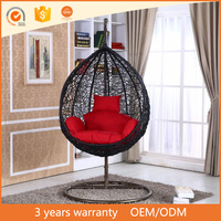 Wholesale Cheap Luxury Colorful Rattan/Wicker Hanging Swing Chair Outdoor Furniture Egg Chair