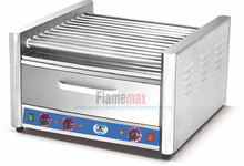 11-roller hot dog grill broiler wirh food warmer(HHW-11))