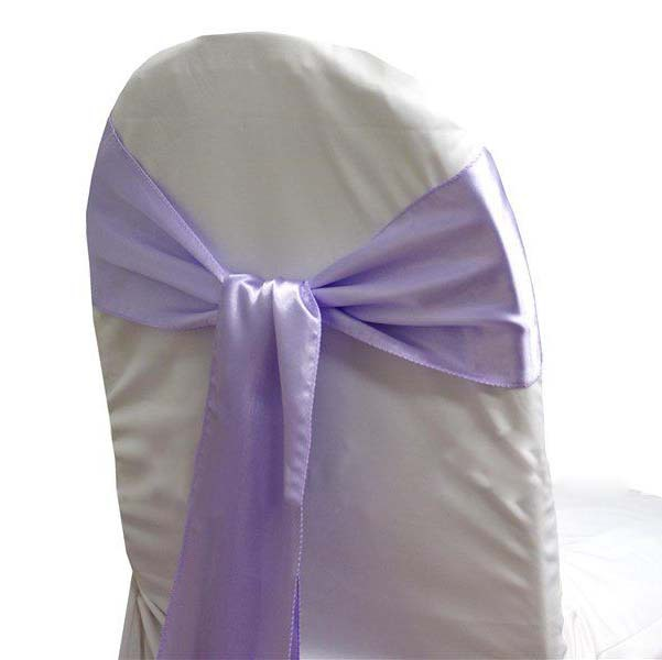 Buy Free Shipping  100pcs Lavender Chair Cover Satin Tie Banquet Satin Chair  Bow Sash For Wedding In Cheap Price On M.alibaba.com