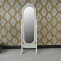 Vintage dressing mirror designs wooden easily assemble for bedroom free standing mirror decorative mirror European style