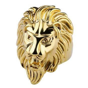 Antique Lion Head Rings For Men Gold Jewellery Cheap Mens Ring
