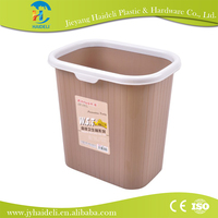 Large capcity imported PP materal Multi purpose best selling colorful plastic waste bin dustbin without lid