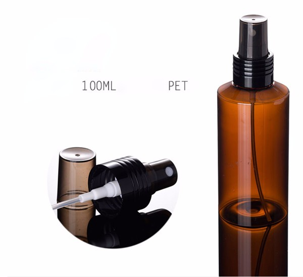 100-250ml Series Semi Blue Plastic Bottle Manufacturers with Black Wheel Style Lotion Pump Black