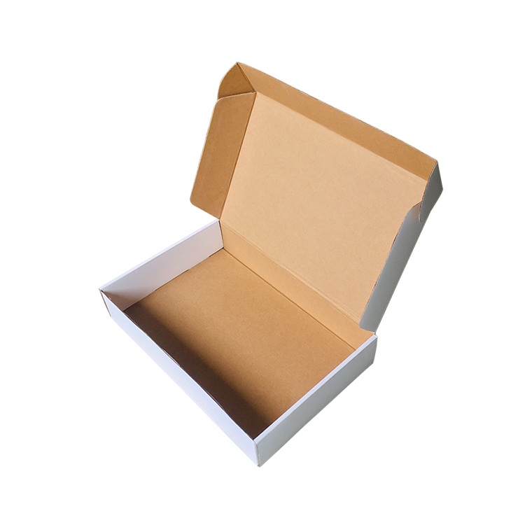 eco kraft flat recycled paper cardboard W9 wholesale shipping custom printed packaging mailer <strong>box</strong>