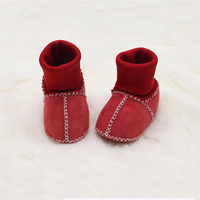 cute baby wool boot handmade sheepskin baby wool shoes