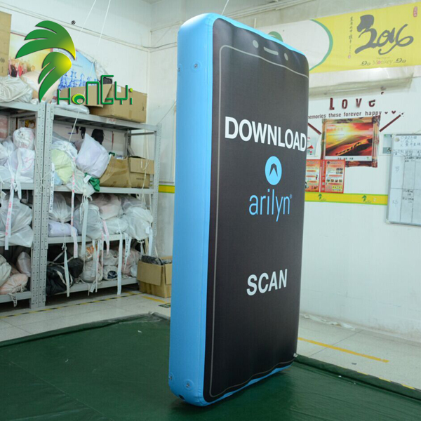 Giant Advertising Waterproof Inflatable Mobile Phone With Logo Printing