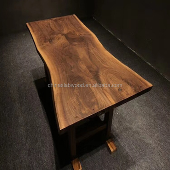 factory direct sell natural live edge carbon fiber table top used for restaurant