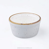 9.5cm round ceramic ramekin in color