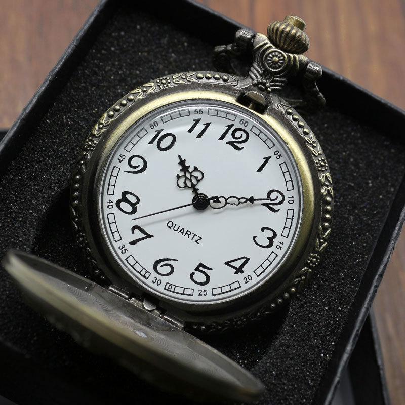 Старинные стимпанк античная бронзовая парусный холст лодка корабль ожерелье цепь кварцевые шкентель карманные часы подарок с коробкой P77