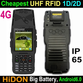 Cheapest Factory 3.2 Inch 4G LTE Android6.0 Rugged Handheld PDA With UHF RFID Optional