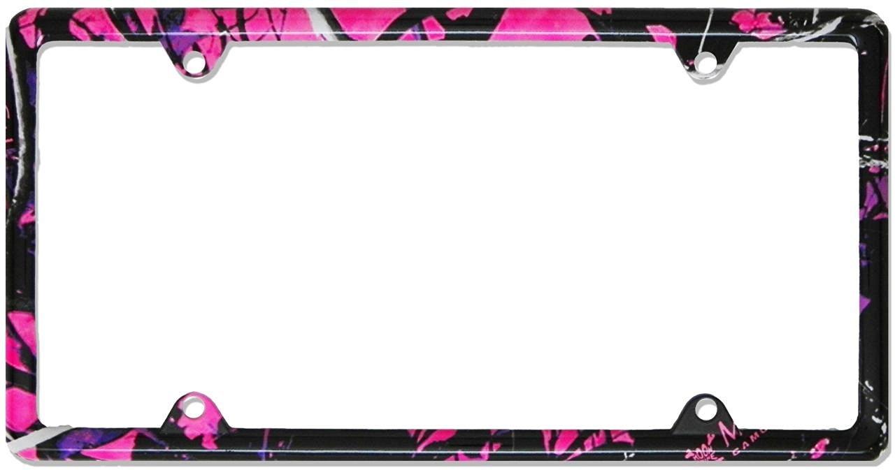 Buy Girly Camo -Thin License Plate METAL Frame by Redeye Laserworks ...