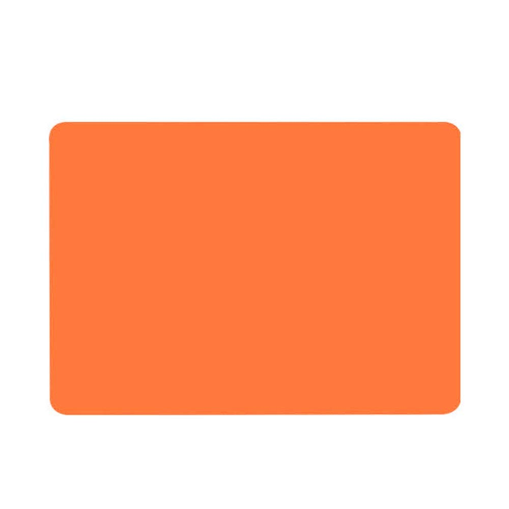 HOBOYER Silicone Table Mats Soft Non Slip Waterproof Heat Resistant Liner Oven Pad for Kids Foods Mats Free FDA[15.7411.81inch] (Orange)