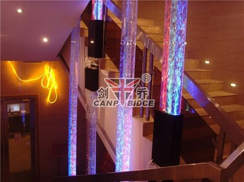 Home Decorating Ideas Small Fountain Water Bubble Led Light Columns