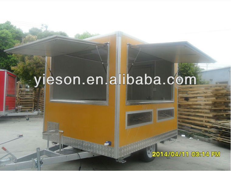 fast food kiosk/mobile kitchen vending truck catering vehicle YS-FV260