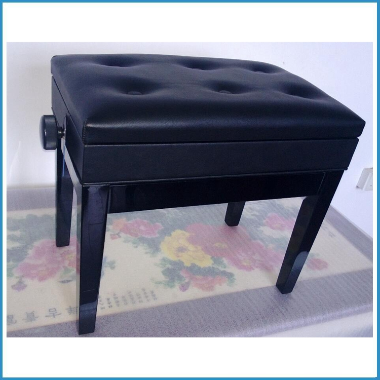 upright piano bench stool chair with sheet music storage