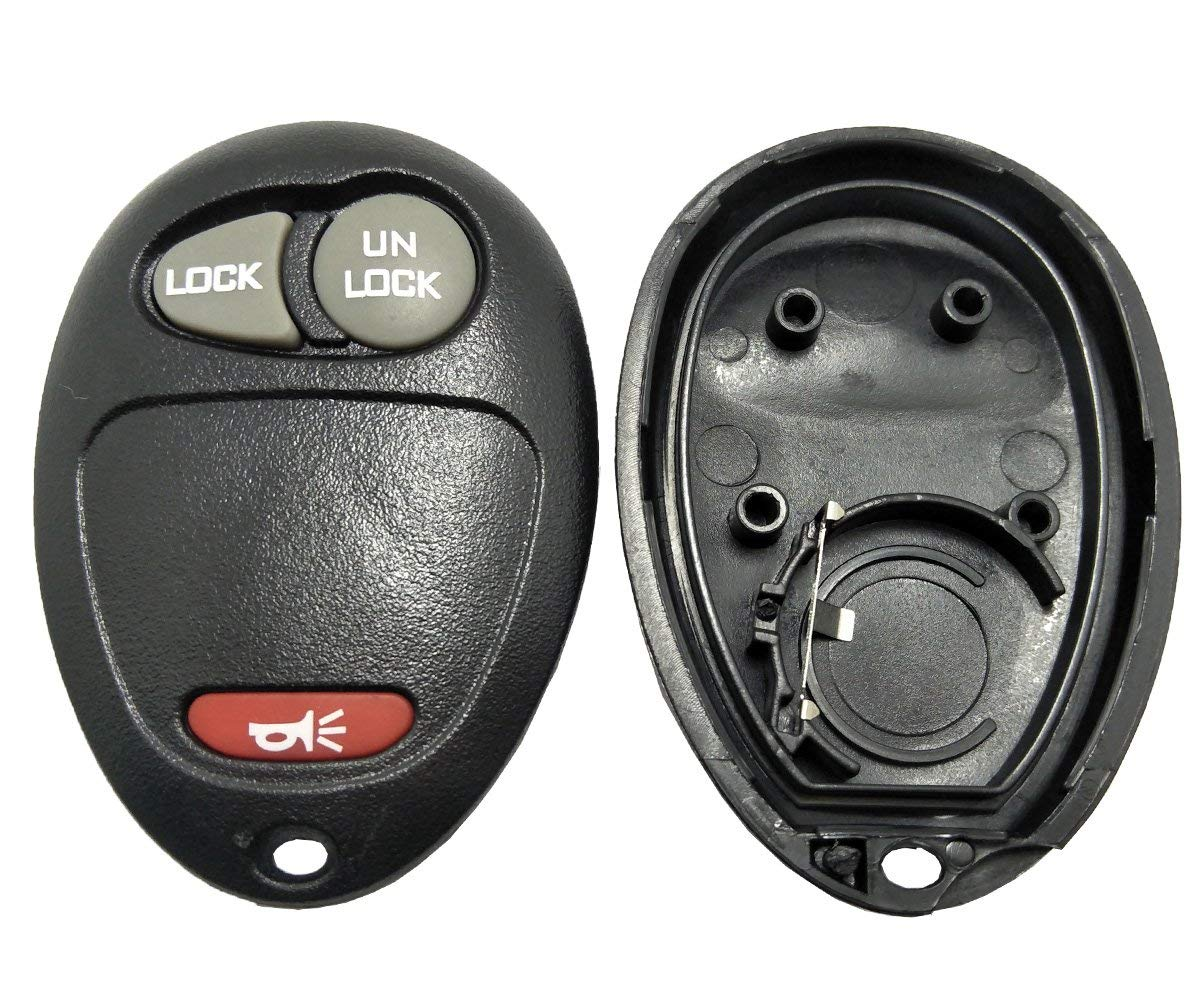 Replacement Key Fob Case Shell for Chevrolet Colorado GM GMC Canyon Isuzu Hummer 3 Buttons Keyless Entry Remote Car Key Casing with Button Pad (Black)
