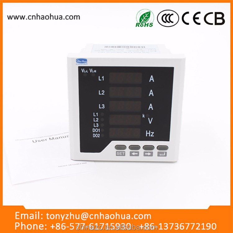 Multifunction panel meter digital ac voltmeter and ammeter rs232 rs485 usb