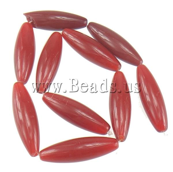 Free shipping!!!Jade Beads,Cheap Jewelry Fashion, Jade Red, Oval, natural, 40.50x12mm, Hole:Approx 2.5mm, Length:Approx 15 Inch