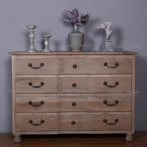 vintage rustic style cabinet 8 drawers solid wood home furniture