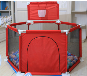 large indoor plastic baby playpen with crawling guardrail sea ball basket game safety fence
