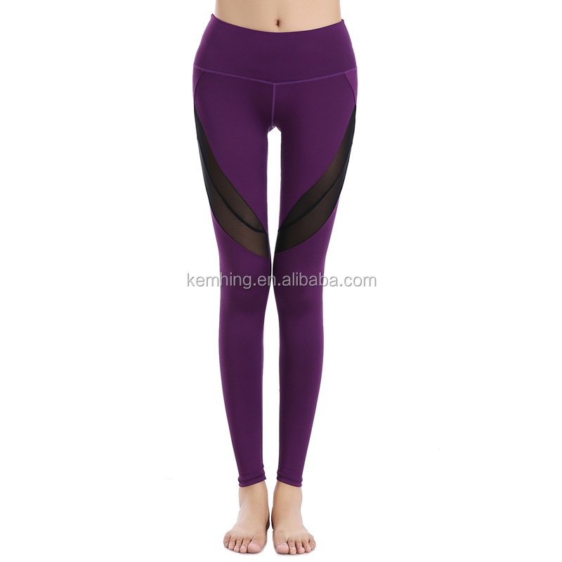 wholesale custom cheaper fitness women young sexy high waist yoga pants leggings mesh