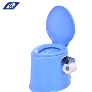 Free sample PP plastic customized printed china movable western plastic toilet