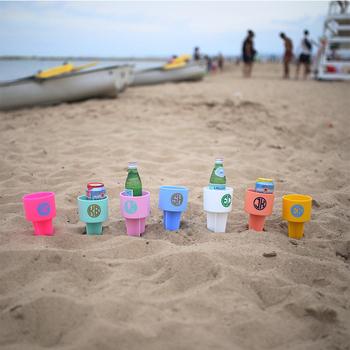 Cfp A003 Pvc Beach Cup Holder Monogram Beach Spiker Buy