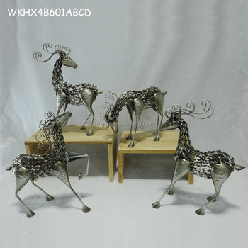 metal iron reindeer christmas decoration - Metal Reindeer Christmas Decorations