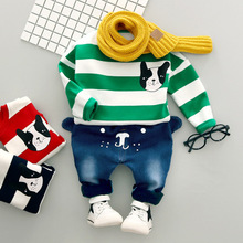 Children Clothing Set Baby Boy Clothes 2PCS Toddler Outfit With Cartoon Sweater + Long Pants