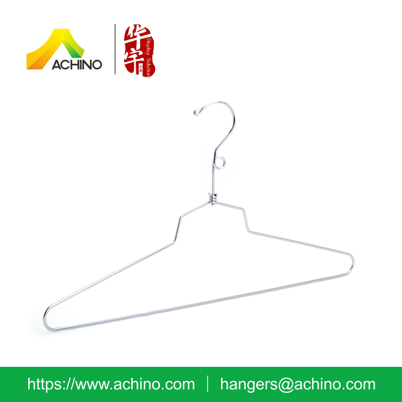 Chrome Wire Garment Hanger with Metal Hook
