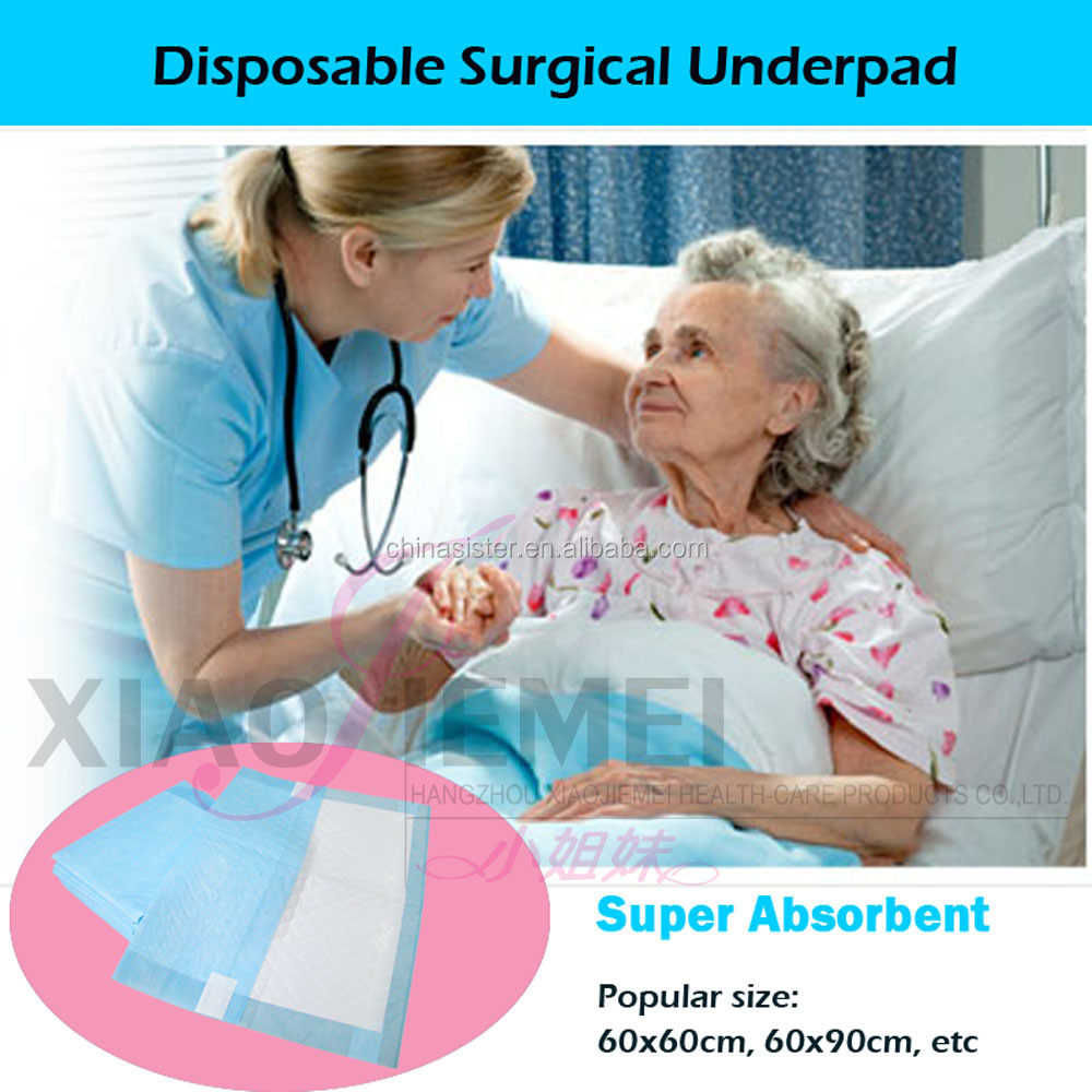 FDA CE certified 60x90cm super absorbent Disposable surgical underpad