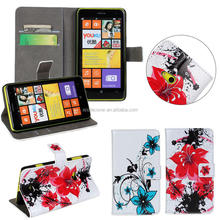 China suppliers Card holders stand wallet Leather phone case for Nokia Lumia 625, for Nokia Lumia 625 case leather