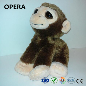 New Design Cute Dark Brown Plush Material Monkey Stuffed Animals