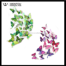 Wholesale Colorful Look Real Butterfly Removable 3D Wall Art