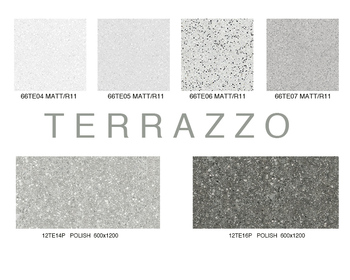 Full Polished Floor Tile With 3 D Picture Terrazzo Look Porcelain 60x60 60x120