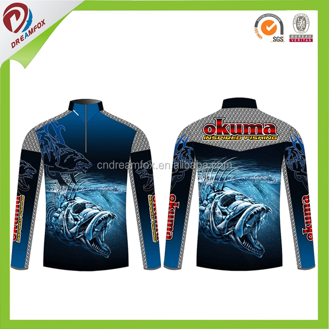ac921048d 2017 new design custom sublimation printing professional fishing jersey