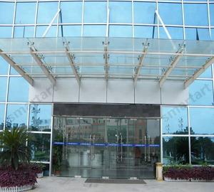 New design steel bracket glass entrance canopy/rain shed