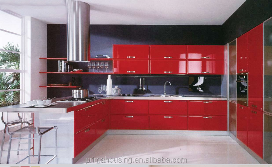 Red Lacquer Kitchen Cabinet, Red Lacquer Kitchen Cabinet Suppliers ...